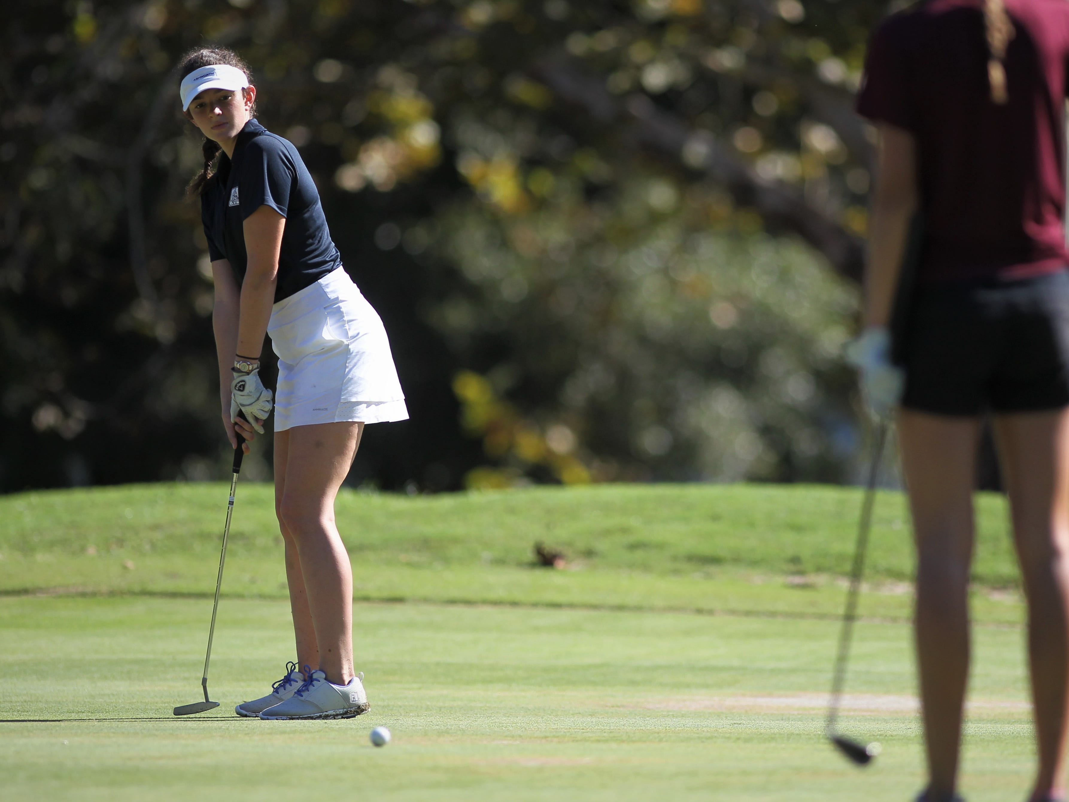 Maclay junior Laura Kathyn Foote plays in the girls golf Panhandle Invitational at Killearn Country Club, Oct. 4, 2018.