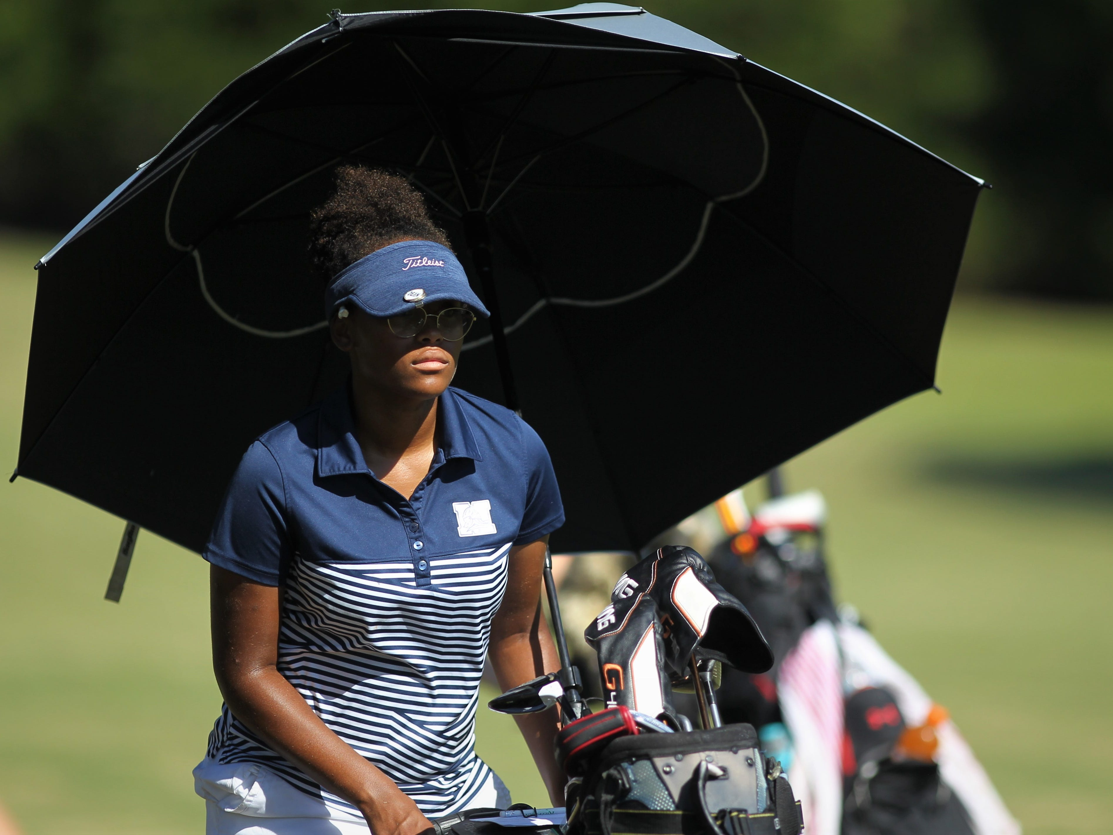 Maclay sophomore Annika Dean plays in the girls golf Panhandle Invitational at Killearn Country Club, Oct. 4, 2018.