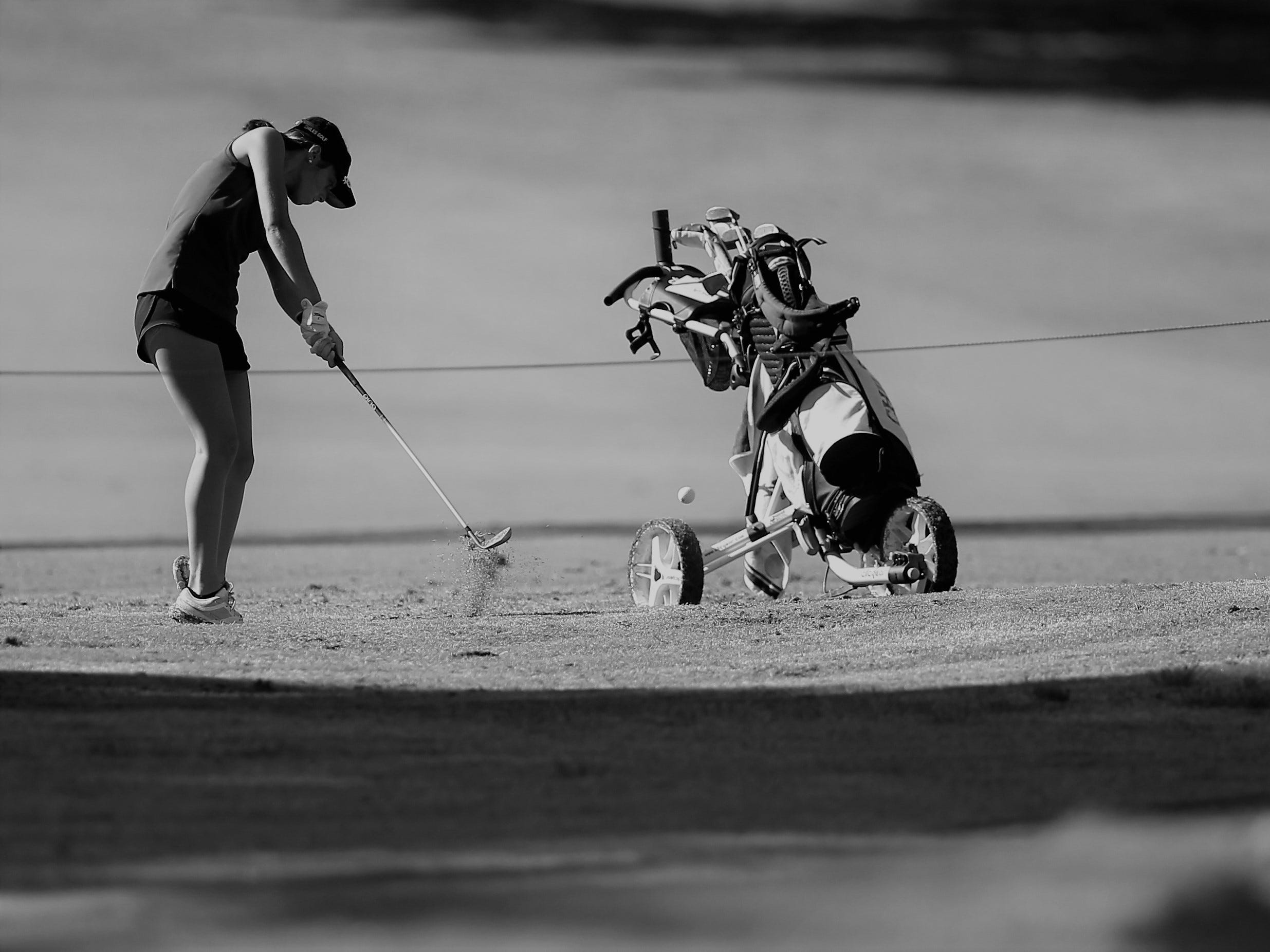 Chiles sophomore Abby LaMothe plays int he girls golf Panhandle Invitational at Killearn Country Club, Oct. 4, 2018.