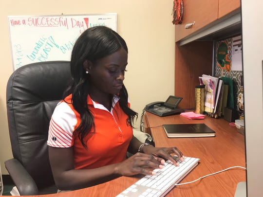 Leronda Pinder is the strategic community and corporate sponsorship coordinator at FAMU. She helped secure advertisement to be featured on the jumbotron during homecoming.