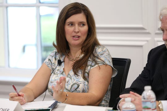 Candidate for the Leon County Soil and Water Supervisor, Cara Fleishcer speaks at the Editorial Board meeting on Thursday, Oct. 4, 2018.