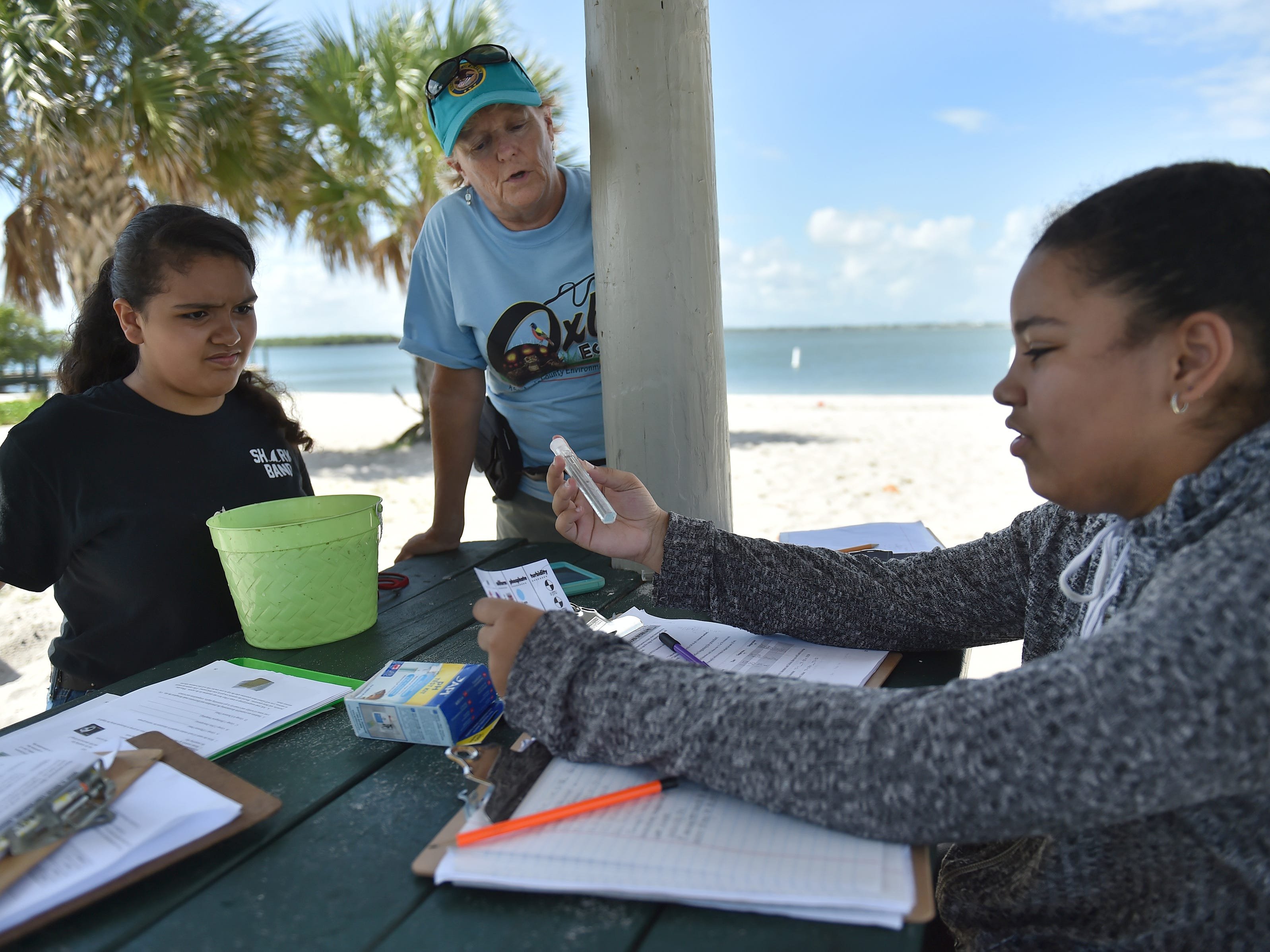 "Sixteen students from St. Lucie West K-8 school, along with their environmental partner, Oxbow Eco-Center, were participating in the ""A Day in the Life of the Indian River Lagoon"", a community-based citizen science and experimental research program to have students, teachers, and environmental experts collaborate in collecting water samples and biological inventories along the Indian River Lagoon. Students and teachers paired with natural resource organizations from Volusia County south through Palm Beach County, testing the health of the entire length of the lagoon."