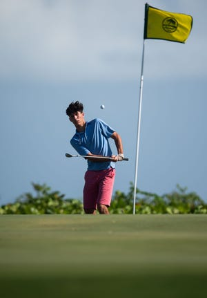 One of golf's new rules is there will be no penalty if your ball strikes the flagstick, even if you're on the green.