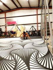 Artist Laura Turón plans to create an optical illusion within her work at Chalk the Block. Be sure and look for her artwork.