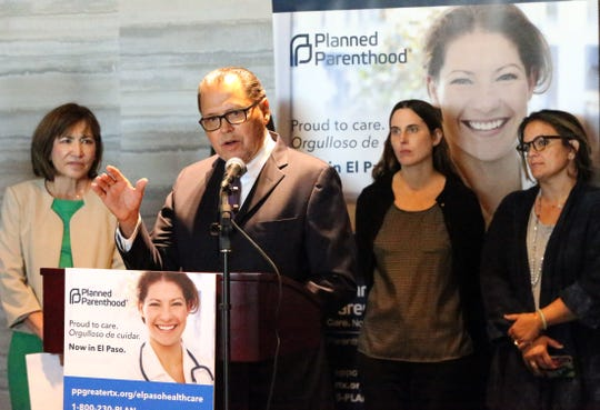 State Sen. José Rodríguez speaks at a news conference announcing the opening of a Planned Parenthood facility in El Paso.