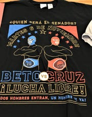 Luchador-style T-shirt for the U.S. Senate race between Democratic U.S. Rep. Beto O'Rourke and Republican U.S. Sen. Ted Cruz.