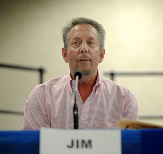 Jim Friedman debates at Citrus Glen Elementary School in Ventura for district 5 elections. The candidates for Ventura City Council's district 4, 5 and 6 took place in a forum put on by the League of Women Voters.