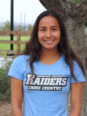 Moorpark College sophomore cross country runner Samatha Barajas