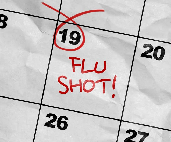 Cumberland County Health Department will offer flu shots at a number of clinics this fall.