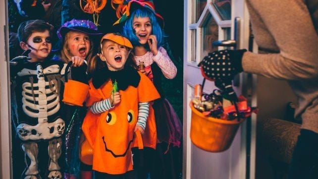 Check out the listing for area trick-or-treat times!