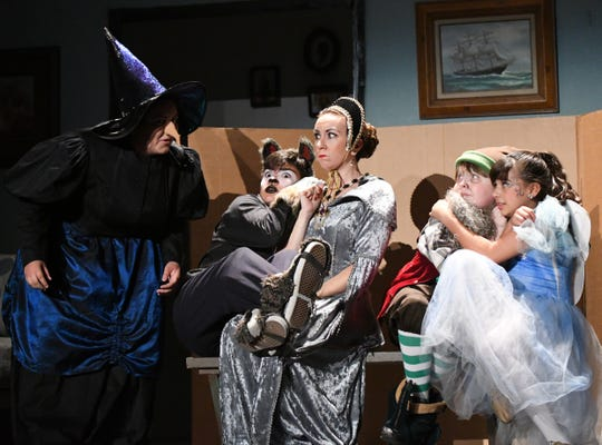 The imprisoned fairy tale characters establish a pecking order -- and lots of laughs -- in new Enchanted Playhouse production.