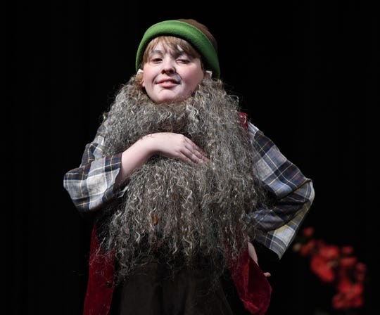 "Rumpelstiltskin (Joshua Zsido) savors freedom in ""Once Upon a Pandora's Box"" production at Main Street Theatre."
