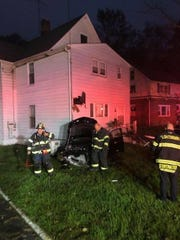 A driver crashed into a home on Route 17 in Sloatsburg on Oct. 4, 2018.