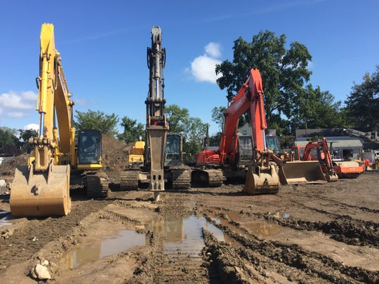 Excavators on the site of The Rockwell, a $60 million project on North Avenue in New Rochelle that will offer 114 housing units, over 20,000 square feet of retail and 207 parking spaces for tenants and customers.