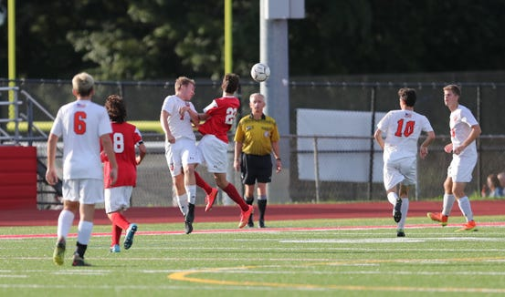 Horace Greeley defeats Somers 2-1 in boys soccer action at Somers High School in Katonah on Wednesday, October 3, 2018.