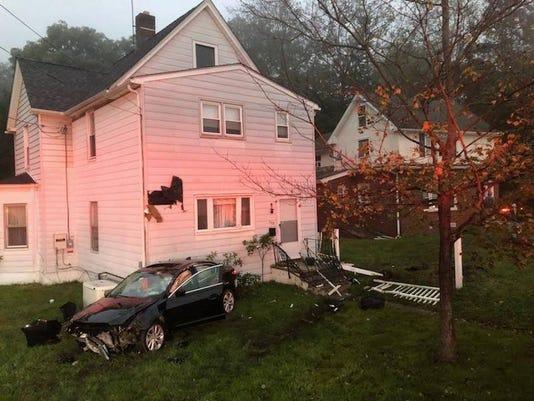 Car hits Sloatsburg home
