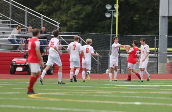 Horace Greeley defeats Somers 2-1 in boys soccer action at Somers High School in Lincolndale on Wednesday, October 3, 2018.