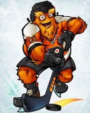 A slightly more fearsome animated version of Gritty will also be used by the Philadelphia Flyers in online promotions.
