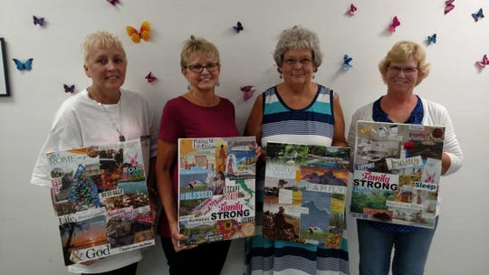 (from left) Missy Anderson, Marie Carey, Barbara Westfall and Geri Cox McClimens are a part of the Delaware Breast Cancer Coalition's first support group for women with stage IV of the disease.