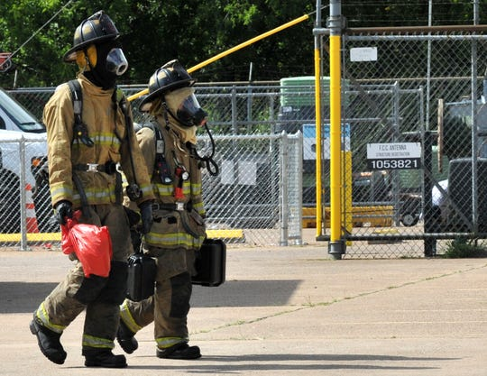 Wichita Falls firefighters investigate a suspicious letter mailed to Spectrum Cable located on Maurine Street Thursday morning.