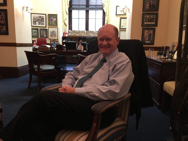 Sen. Chris Coons, D-Del., in his Washington, D.C., office.