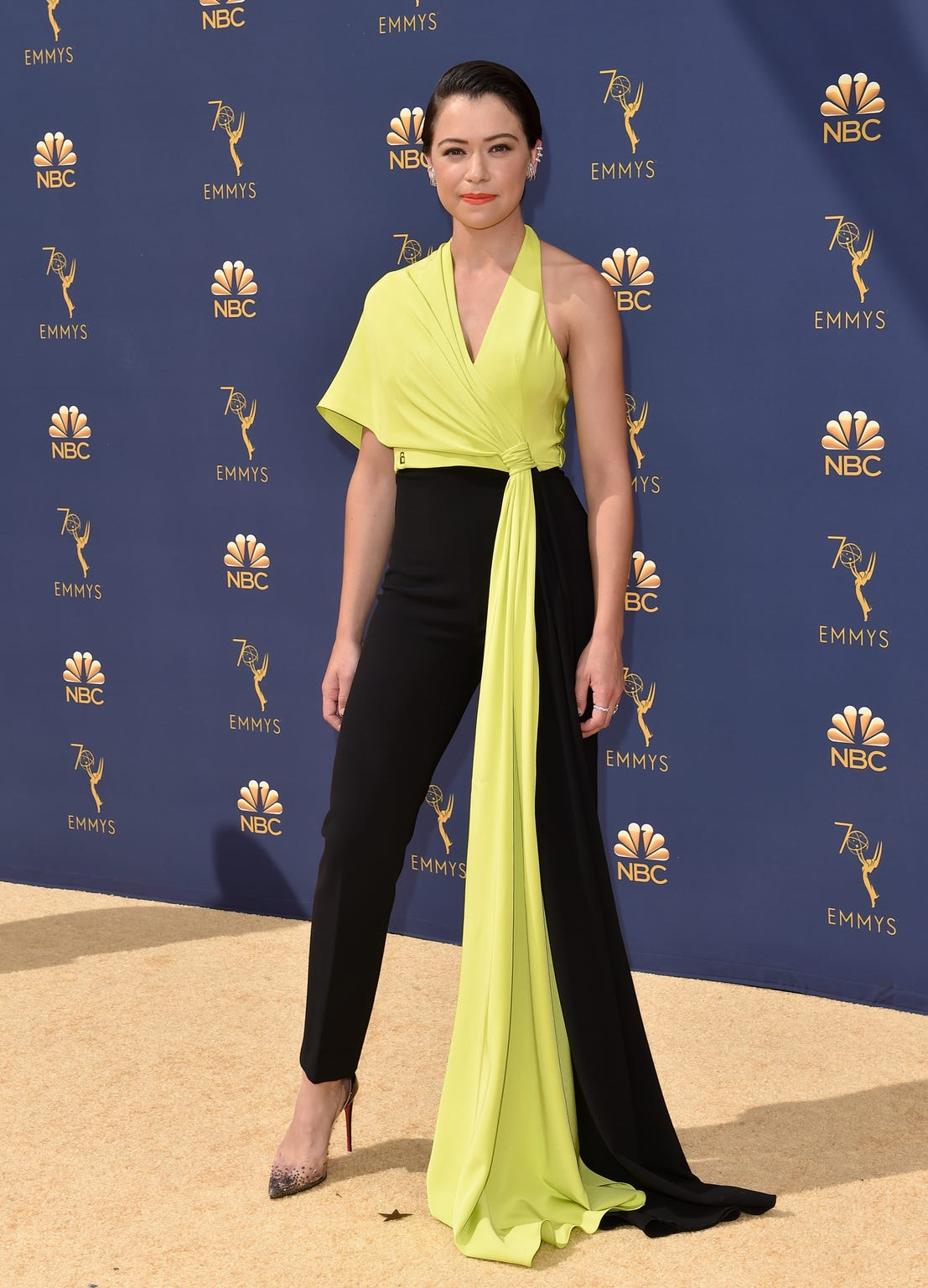 Tatiana Maslany attended the Emmy Awards on September 17, 2018.