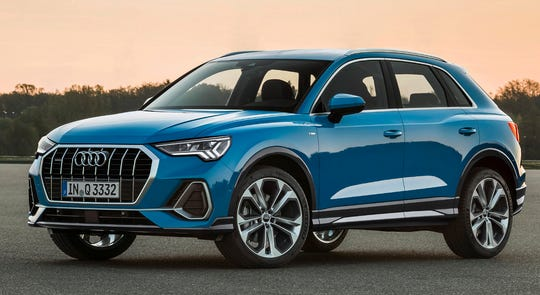 This undated photo provided by Audi shows the 2019 Audi Q3. The Q3 will be redesigned for the 2019 model year, although it won't be available in U.S. dealerships until July. (Courtesy of Audi AG via AP)