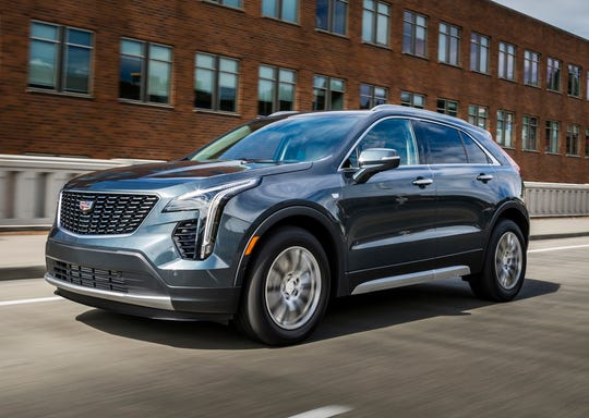 This undated photo provided by General Motors shows the 2019 Cadillac XT4.  The XT4 offers an extensive list of luxury upgrades and easy-to-use tech features, although those can quickly drive up the Caddy's starting price of $35,790. (Courtesy of General Motors via AP)