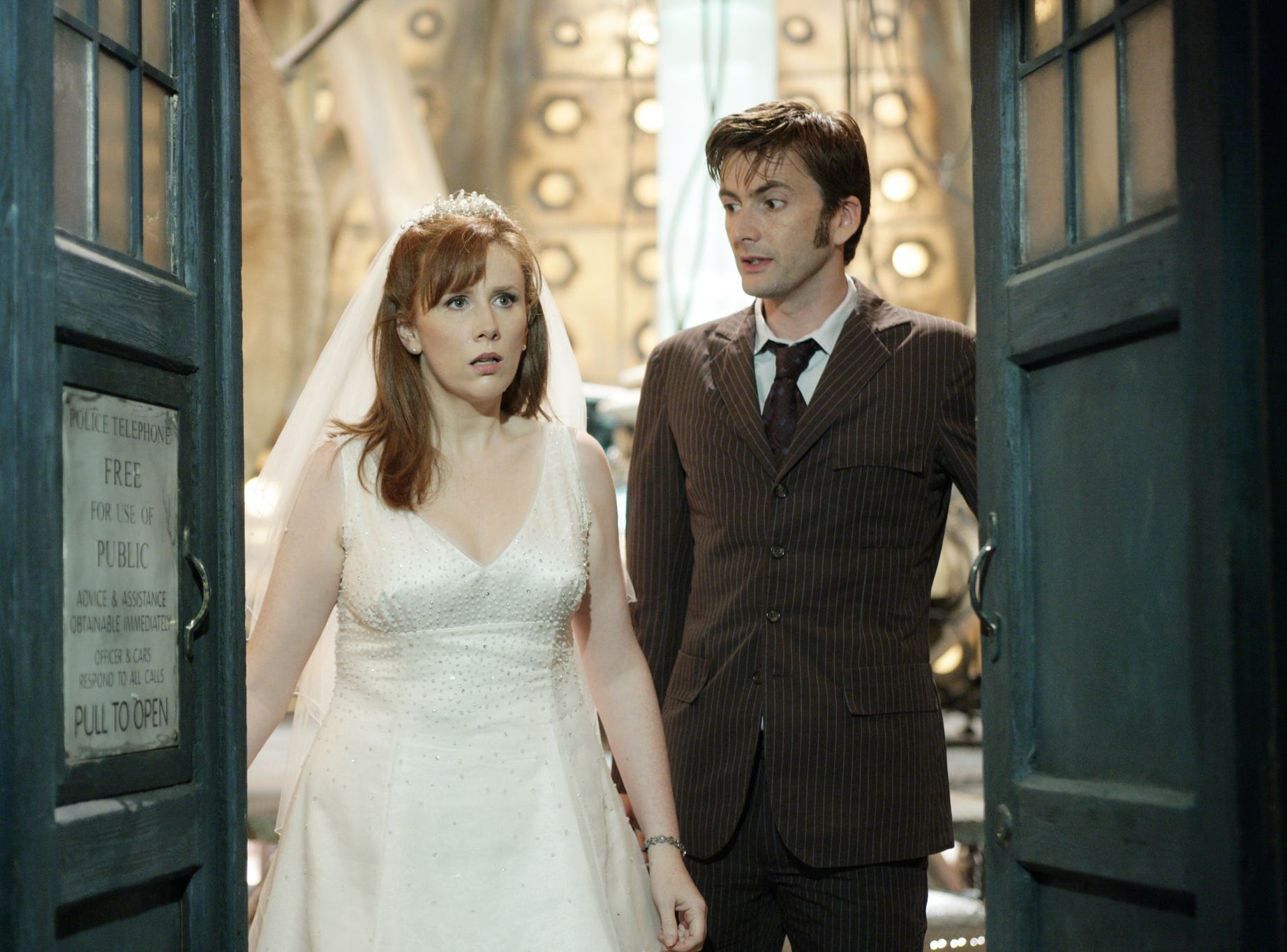 """Catherine Tate made her first appearance as Donna Noble when she was swept aboard the Tardis during her wedding. Years later, she was reunited with the Doctor to travel with him. After """"Doctor Who,"""" Tate spent three seasons on NBC's """"The Office."""""""