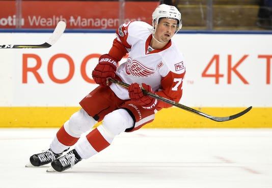 80cb7c104af Usp Nhl Detroit Red Wings At Toronto Maple Leafs S Hkn Tor Det Can On. Detroit  Red Wings forward Dylan Larkin ...