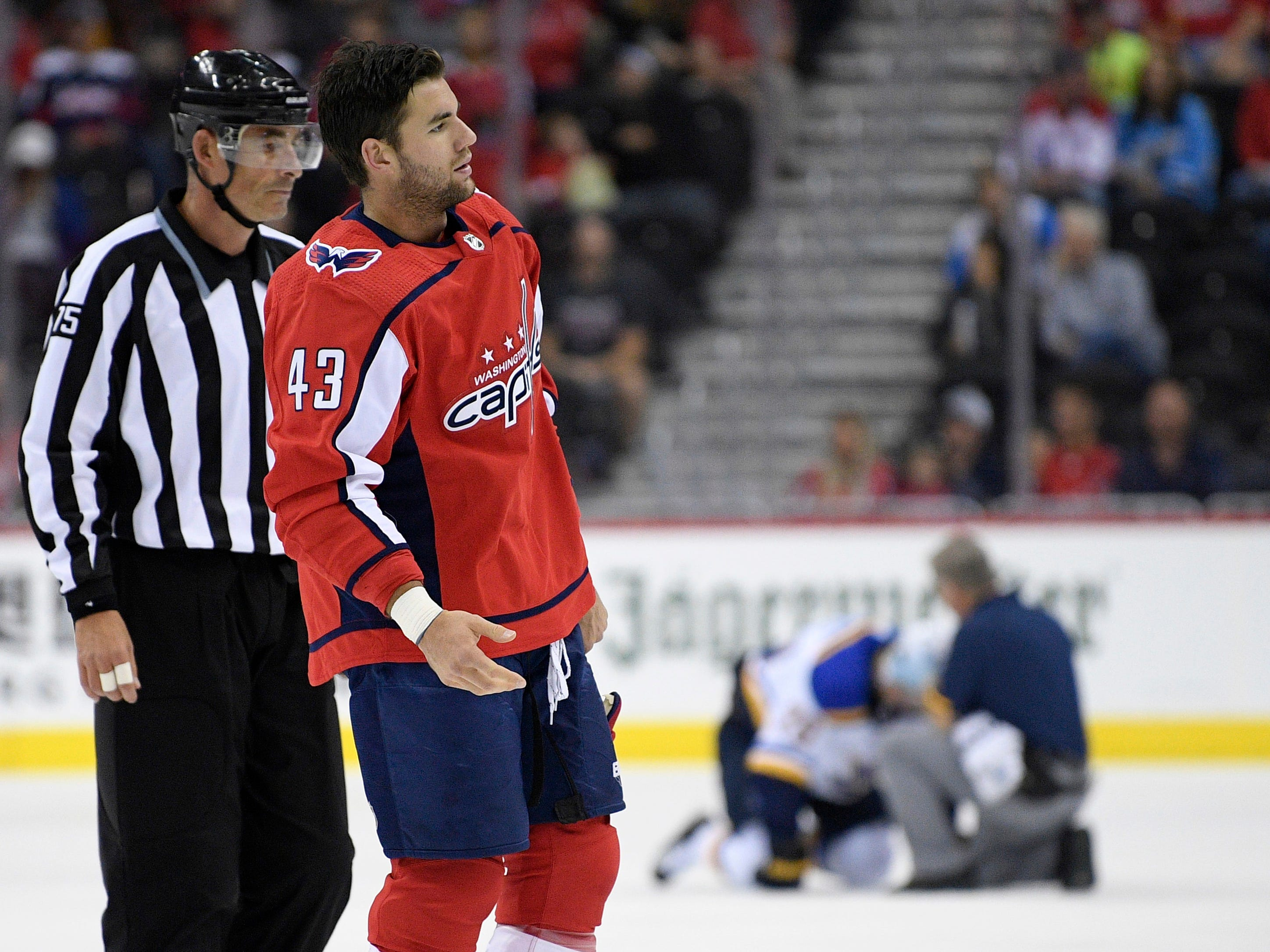 Oct. 3: Washington Capitals right wing Tom Wilson was suspended for 20 games for a hit to the head of St. Louis Blues forward Oskar Sundqvist. Lost pay: $1,260,162.60.