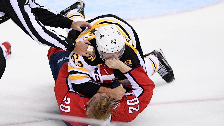9cc9b0b297f Bruins  Brad Marchand pummels Capitals  Lars Eller for celebrating seventh  goal in rout