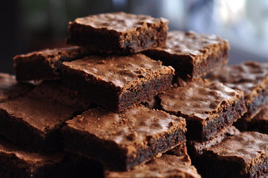 Pile Of Delicious Chocolate Brownies