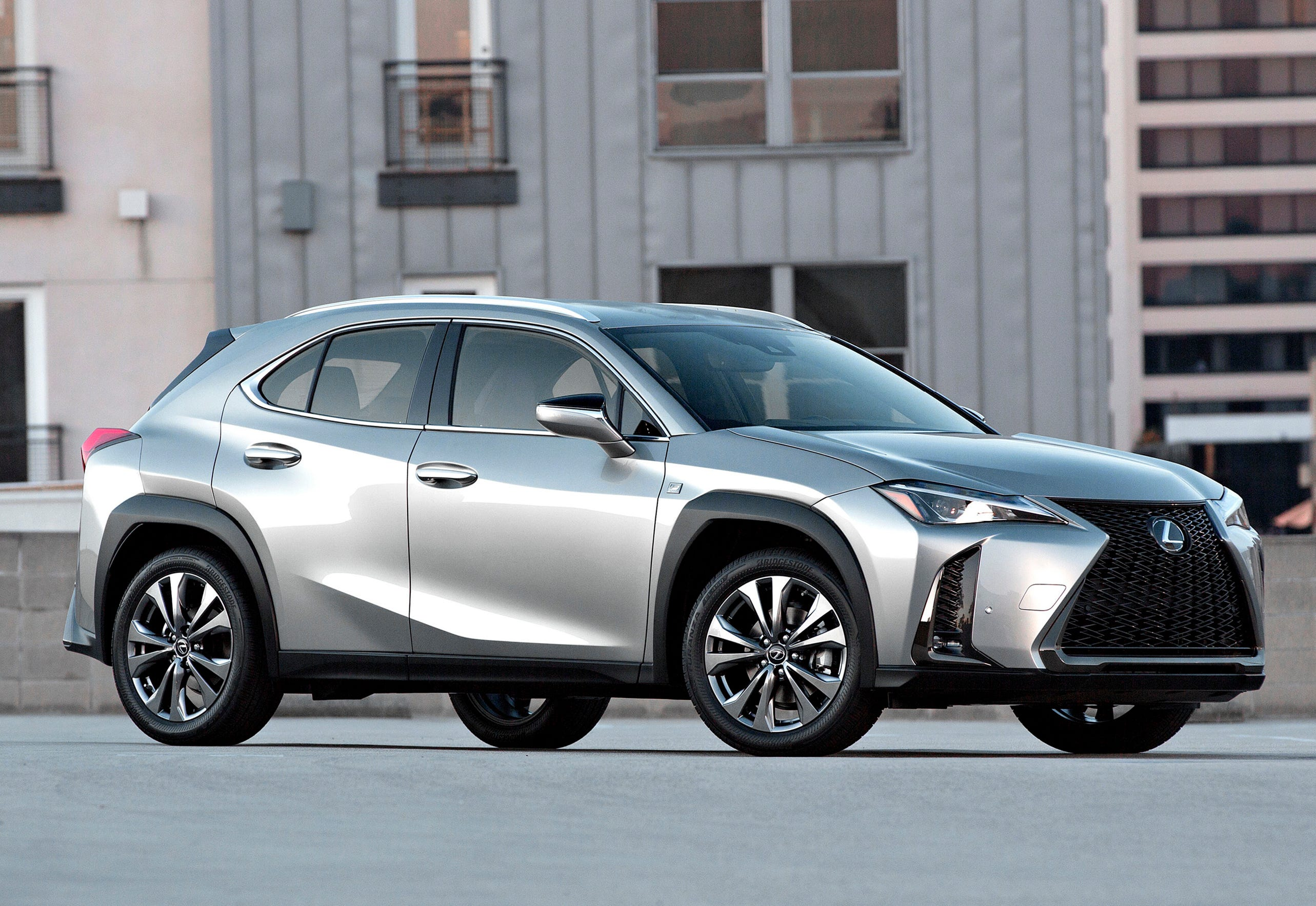 This undated photo provided by Lexus shows the 2019 Lexus UX. The Lexus UX has a few distinct advantages: It has the lowest cost of entry in the class ($33,025), and it is currently the only one that comes in a hybrid version for increased fuel efficiency. (Courtesy of Toyota Motor Sales U.S.A. via AP)