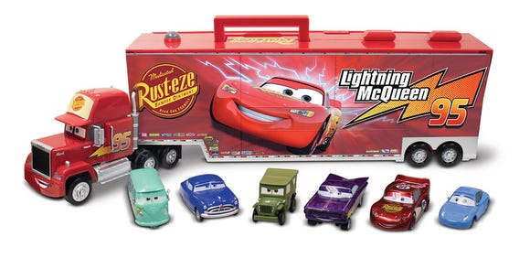 Mack Carrier With 6 Die Cast Cars Set Cars is among the Top 15 Toys for 2018 from shopDisney and Disney store.