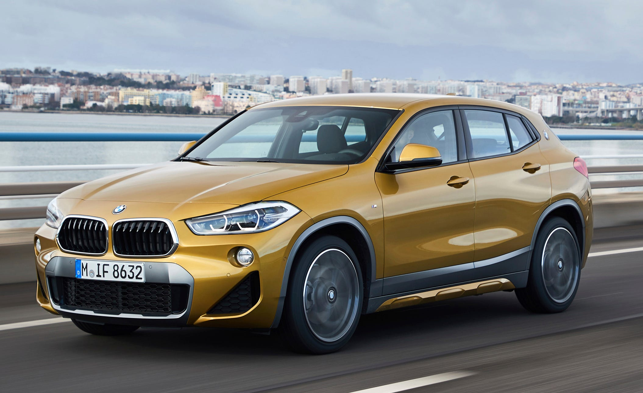 This undated photo provided by BMW shows the 2019 BMW X2. The X2 gives up both cargo space and rear headroom compared to the related X1, and it comes with a higher price tag: $37,395, versus the X1's $34,895 starting price. (Fabian Kirchbauer Photography/BMW of America via AP)
