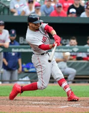 Mookie Betts led the majors with a .346 average.