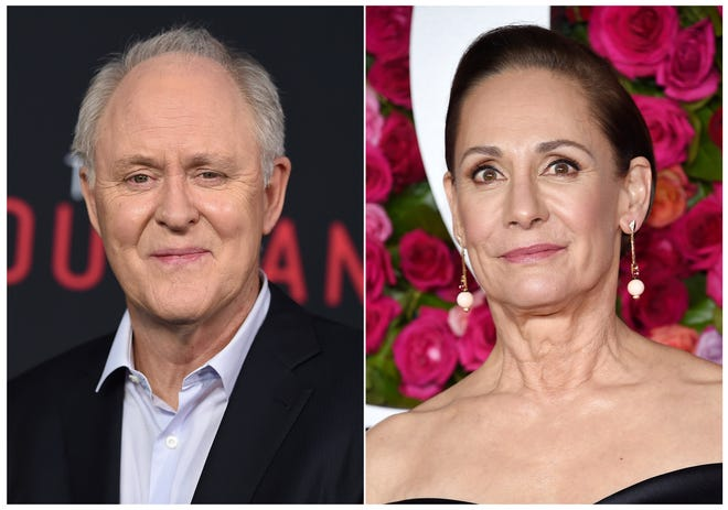 "Laurie Metcalf and John Lithgow are poised to star as Hillary Clinton and former President Bill Clinton in a new Broadway play, ""Hillary and Clinton."""