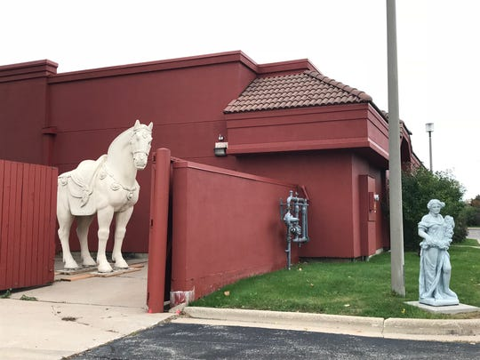 P.F. Chang's horse is tucked behind its future building in Grand Chute.