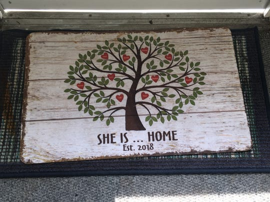 The doormat at Marilyn's Place