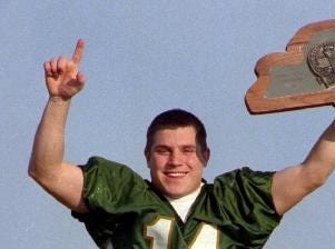 Athlete of the Year (1997) Mike Young, a senior at Vestal High School, was quarterback for the Golden Bears team that won the New York State Public High School State Athletic Association Class A Football Championship.