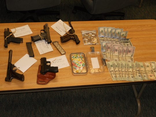 A Chenango narcotics investigation revealed weapons, 20 grams of crystal methamphetamine and over $1200 in an Oxford residence.