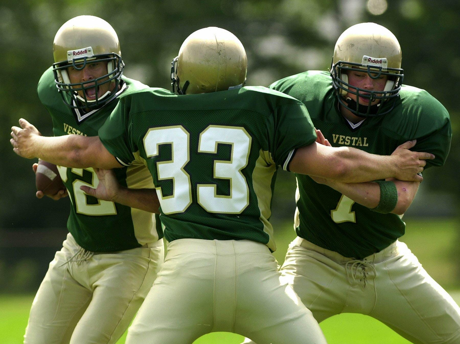 In 2005, Vestal High School's Mark Peretore, left, Mike Paolucci, center, and Steve Campbell.