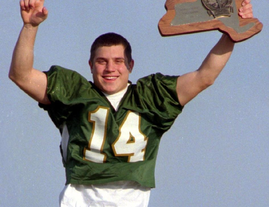 Mike Young - Athlete of the Year, a senior at Vestal High School, was quarterback for the Golden Bears team that won the New York State Public High School State Athletic Association Class A Football Championship. 1997