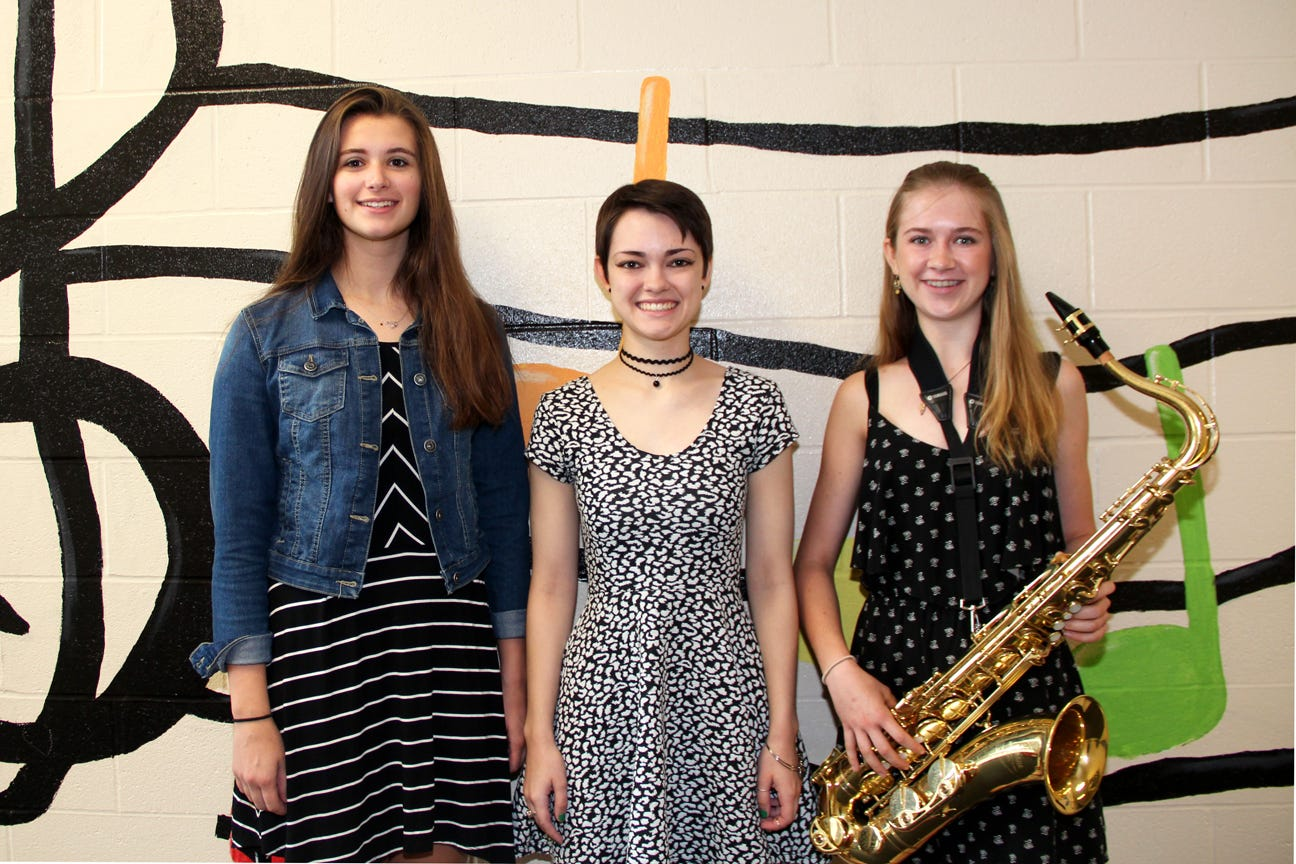 Maine-Endwell High School junior Sarah Kumpon, senior Lauren Kidder and junior Abigail Wheeler were chosen as alternates for the 2018 New York State School Music Association All-State Festival.