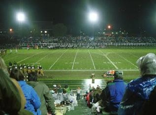 View from the bleachers at a 1999 Vestal vs. UE high school football game at Vestal.
