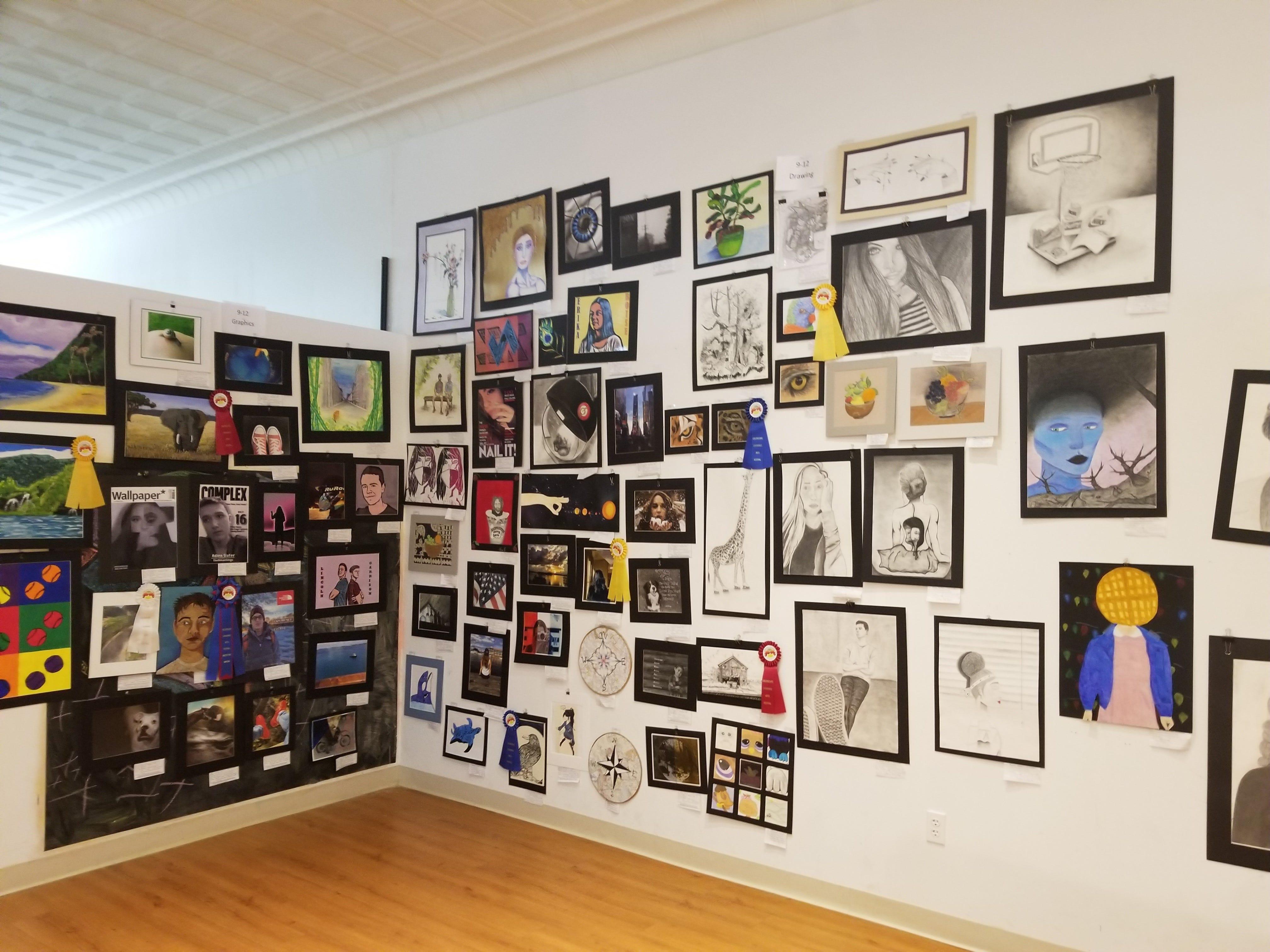 The 2018 Colorscape student art exhibit.