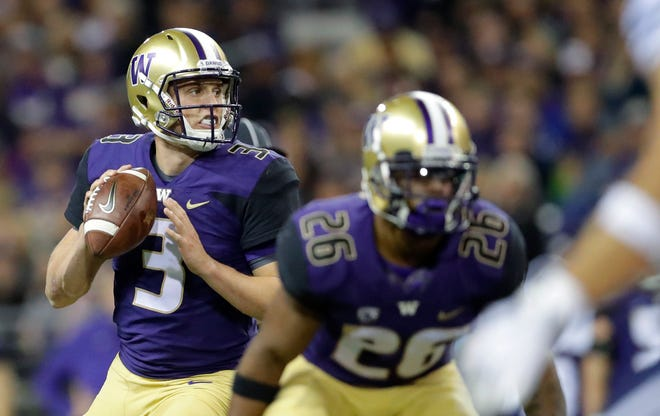 Washington quarterback Jake Browning likely will finish his career with some of the best passing numbers in Pac-12 history.