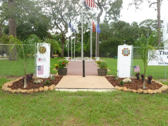This is what the entrance to the Brevard County Veterans Cemetery in Titusville looks like now, after extensive renovations. (Photo courtesy of Nick Gilman)