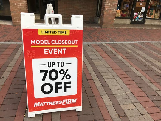 Mattress Firm in Burlington is not slated to close in the short term.
